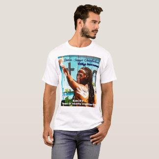ドニーズの木びきのチェンバレンのTシャツ(青い塀) Tシャツ