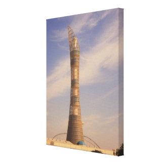 ドハ、カタールのタワーは熱望します キャンバスプリント