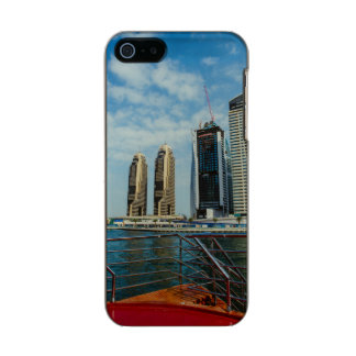 ドバイのマリーナの超高層ビル メタリックiPhone SE/5/5sケース