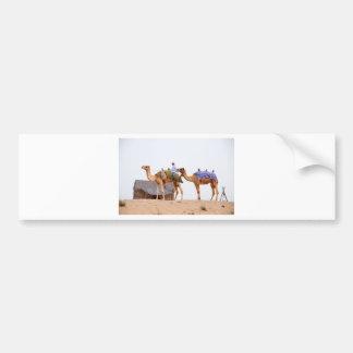 ドバイの砂漠 バンパーステッカー