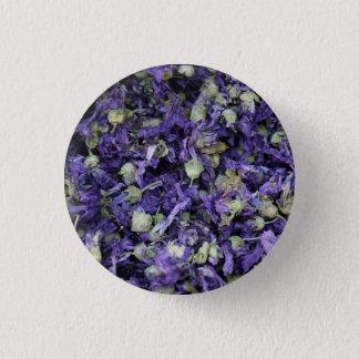 ドバイ[紫色パターン1]からのぴりっとする花の写真 3.2CM 丸型バッジ