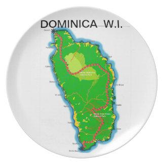 ドミニカのプレート プレート