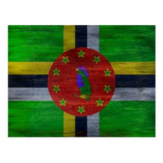 ドミニカの動揺してな旗 ポストカード