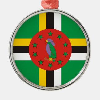 ドミニカの国旗の国家の記号 メタルオーナメント