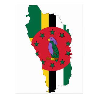 ドミニカの旗の地図DM ポストカード