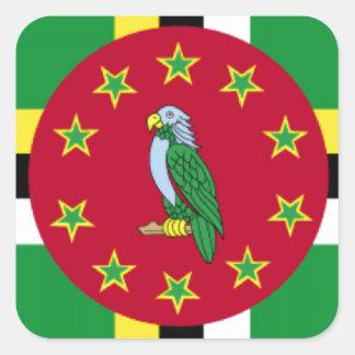 ドミニカの旗 スクエアシール