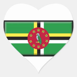 ドミニカの旗 ハートシール