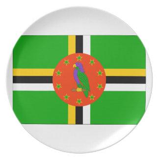 ドミニカの旗 プレート