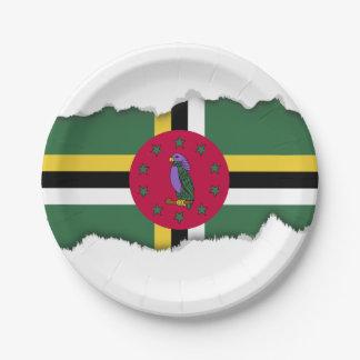 ドミニカの旗 ペーパープレート