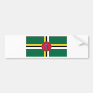 ドミニカの旗DM バンパーステッカー