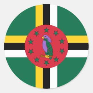 ドミニカの旗DM ラウンドシール