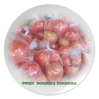 ドミニカの甘いトマトのプレート プレート