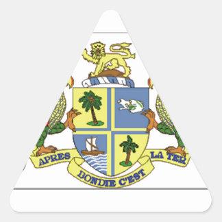 ドミニカの紋章付き外衣 三角形シール