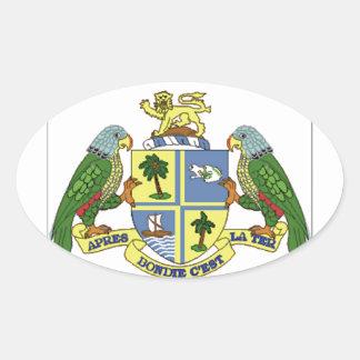 ドミニカの紋章付き外衣 楕円形シール