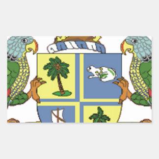 ドミニカの紋章付き外衣 長方形シール