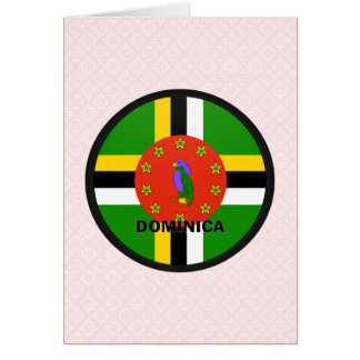 ドミニカのRoundelの質の旗 カード