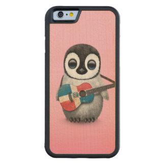 ドミニカ共和国のギターのピンクを遊んでいるペンギン CarvedメープルiPhone 6バンパーケース