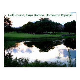 ドミニカ共和国のゴルフコース ポストカード