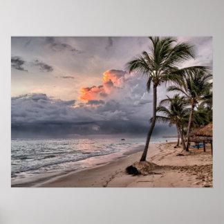 ドミニカ共和国のビーチ、美しい景色 ポスター