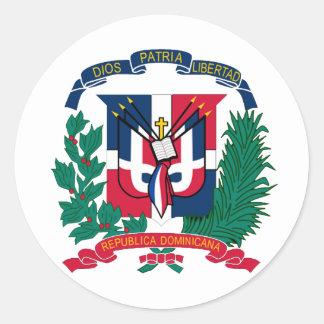 ドミニカ共和国の国民のシール ラウンドシール