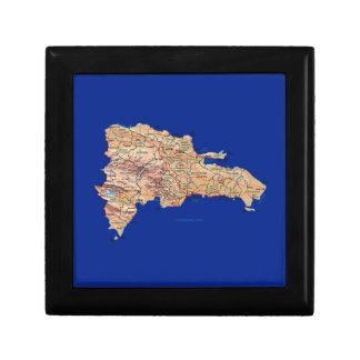 ドミニカ共和国の地図のギフト用の箱 ギフトボックス