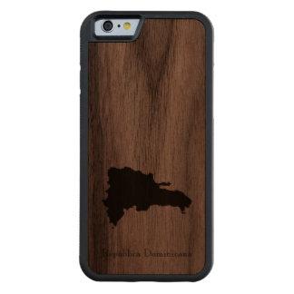 ドミニカ共和国の地図: クラシックなデザイン CarvedウォルナッツiPhone 6バンパーケース