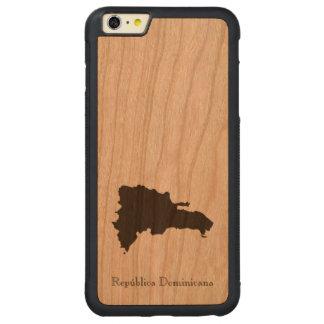 ドミニカ共和国の地図 CarvedチェリーiPhone 6 PLUSバンパーケース