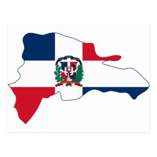 ドミニカ共和国の旗の地図は ポストカード