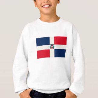 ドミニカ共和国の旗の油絵 スウェットシャツ