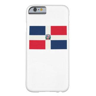 ドミニカ共和国の旗の油絵 BARELY THERE iPhone 6 ケース