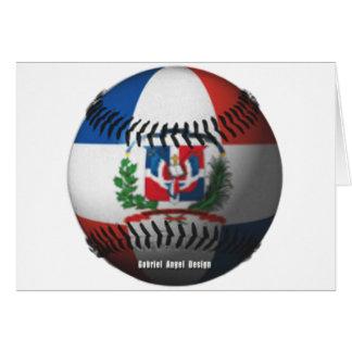 ドミニカ共和国の旗は野球をカバーしました カード