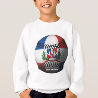 ドミニカ共和国の旗は野球をカバーしました スウェットシャツ