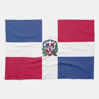 ドミニカ共和国の旗 キッチンタオル