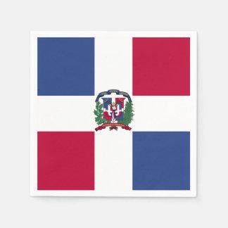ドミニカ共和国の旗 スタンダードカクテルナプキン
