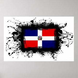 ドミニカ共和国の旗 ポスター