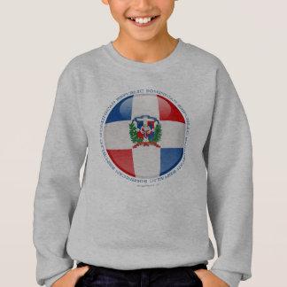 ドミニカ共和国の泡旗 スウェットシャツ