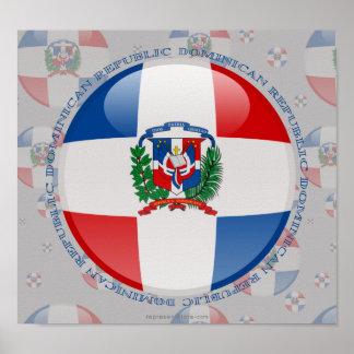 ドミニカ共和国の泡旗 ポスター