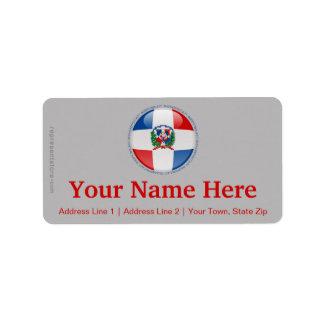 ドミニカ共和国の泡旗 ラベル