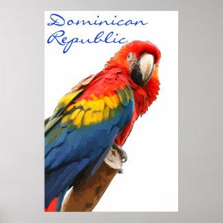 ドミニカ共和国の深紅のコンゴウインコポスター ポスター