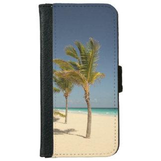 ドミニカ共和国の熱帯ビーチ iPhone 6/6S ウォレットケース