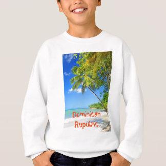 ドミニカ共和国の熱帯島 スウェットシャツ