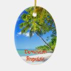 ドミニカ共和国の熱帯島 セラミックオーナメント