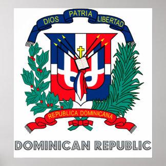 ドミニカ共和国の紋章付き外衣 ポスター