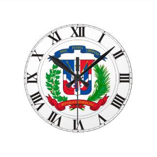ドミニカ共和国の紋章付き外衣 ラウンド壁時計