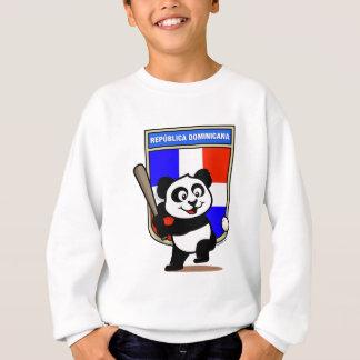 ドミニカ共和国の野球のパンダ スウェットシャツ