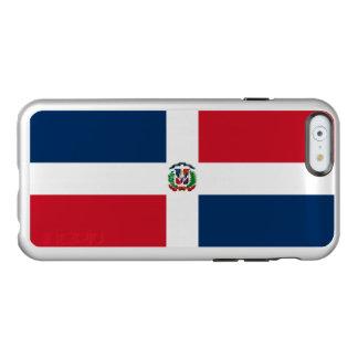 ドミニカ共和国の銀のiPhoneの場合の旗 Incipio Feather Shine iPhone 6ケース