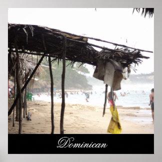 ドミニカ共和国のNajayoのビーチ ポスター