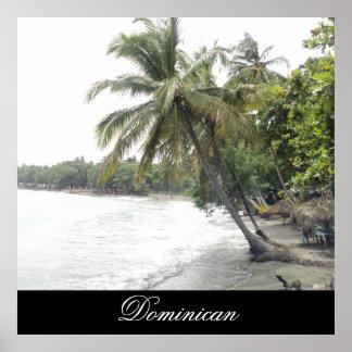 ドミニカ共和国のPalenqueのビーチ ポスター