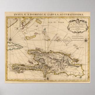 ドミニカ共和国、ハイチ、西インド諸島 ポスター