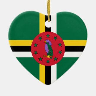 ドミニカ-ドミニコ共和国の旗 セラミックオーナメント